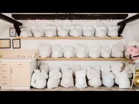 Gipsabdruck Babybauch bemalen - Video Anleitung