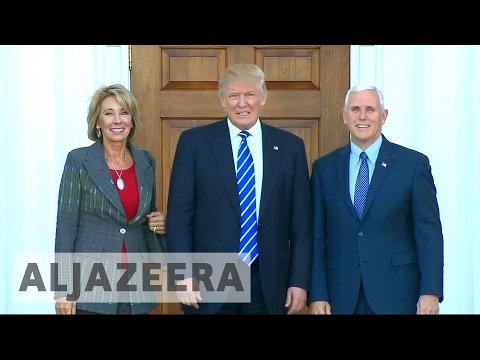 US Senate divided over Trump's education secretary pick