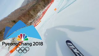 Here's what it's like to ski an Olympic downhill course