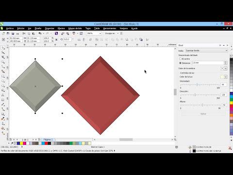 Curso Introducción a CorelDraw X6 - 60 El Panel Bisel