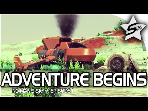 """No Man's Sky Gameplay Part 1 - """"OUR FIRST PLANET, SENTINEL ATTACK, MY DREAM GAME!"""""""