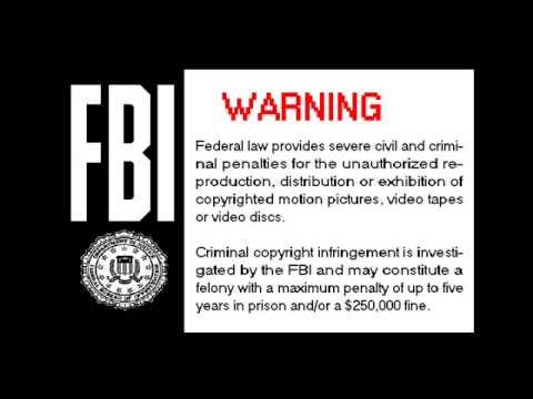 whv 1984 fbi warning screen homemade youtube