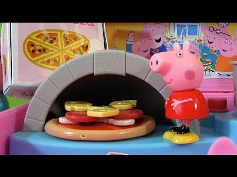 peppa pig pizzeria playset carry case   juguetes de peppa pig