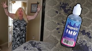 DISAPPEARING INK PRANK ON MY GRANDMOMS BED!