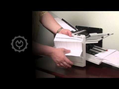Martin Yale 1217A Automatic Paper Folding Machine Demo Video