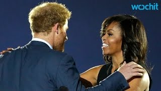 First Lady Michelle Obama Helps Prince Harry to Kick Off the Invictus Games