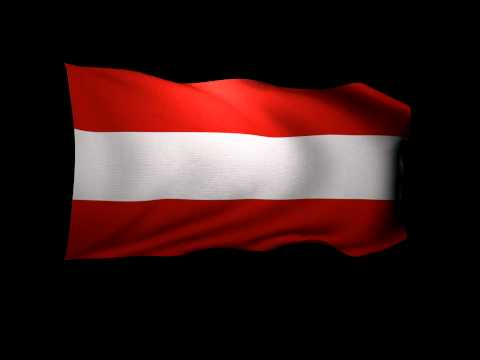 3D Rendering of the flag of Austria waving in the wind.