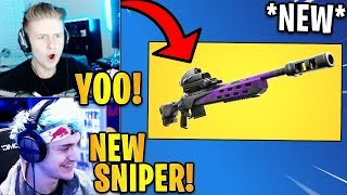 Streamers React to the *NEW* Storm Scout Sniper Rifle! *LEGENDARY*   Fortnite Highlights