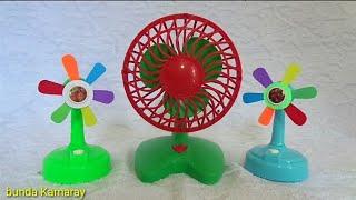 Fan toy red and fan rainbow propeller