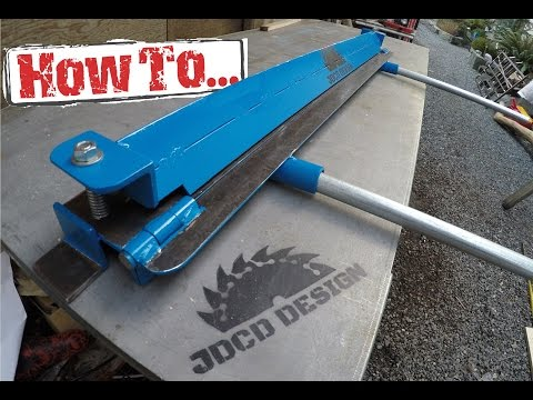 How To: Home-made Sheet Metal Brake. Built On A Budget!!!