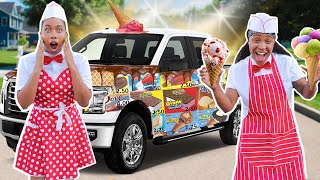 Turning our car into a FREE ice cream truck *Went to the HOOD*