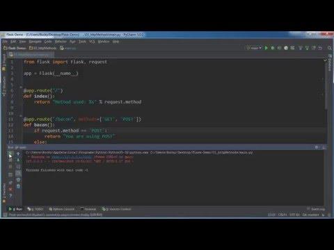Flask Web Development with Python Tutorial - 3 - HTTP Methods