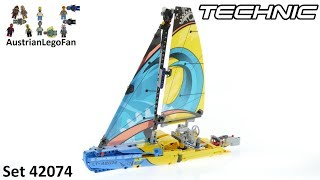 Lego Technic 42074 Racing Yacht - Lego Speed Build Review