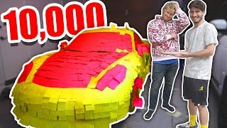 Sticky Notes Car Prank on Roommate