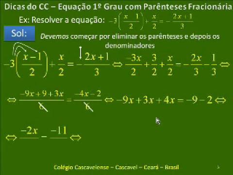#2 EQUAÇÃO DO 1ºGRAU - FÁCIL FÁCIL -  Passo a Passo - CC V142