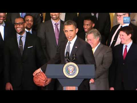 NBA Champs Miami Heat At White House - Full Video