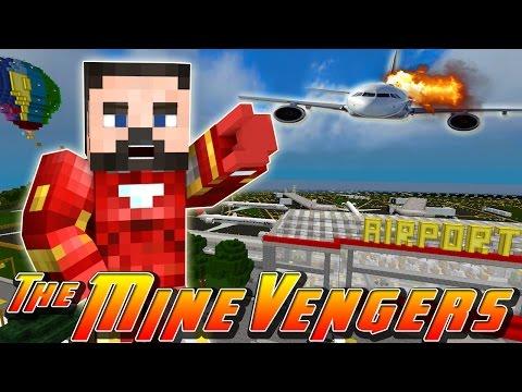 Minecraft MineVengers - MAYDAY AT MINECRAFT AIRPORT!!
