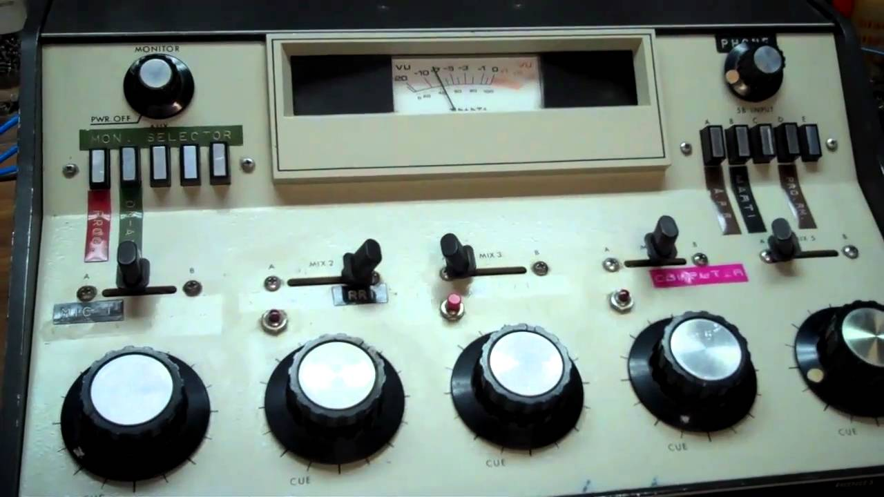 Radio Station Console Sparta Vintage Radio Station