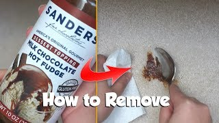 How to remove Sanders hot fudge | Michigan Stain Series