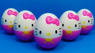 HELLO KITTY surprise eggs! Unboxing 5 eggs surprise Hello Kitty for Kids for BABY Toys MymillionTV