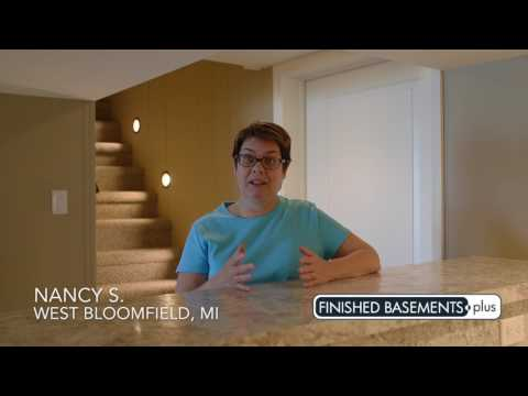 Nancy S. Finished Basement Video Testimonial   West Bloomfield, MI