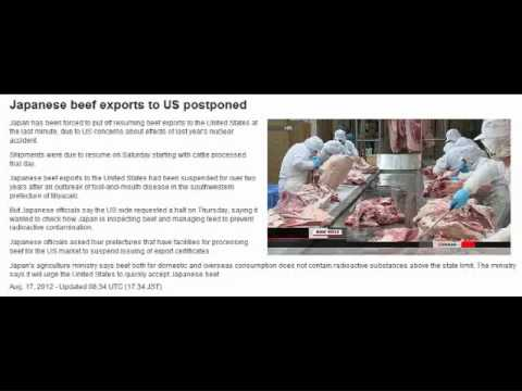 Japan is Urging US to Accept Radioactive Beef!