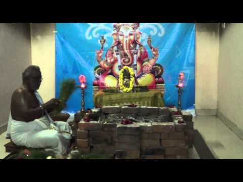 Vigna Ganapathi Homam Part 1 Vedicfolks video