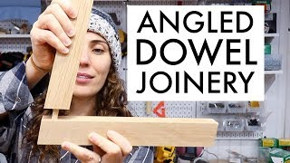 How To Accurately Drill Angled Holes For Joinery // Woodworking How To // Angled Joinery