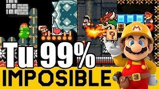 SALTA, CORRE Y ESQUIVA ! - 99% IMPOSIBLES de Suscriptores #22 | Super  Mario Maker - ZetaSSJ