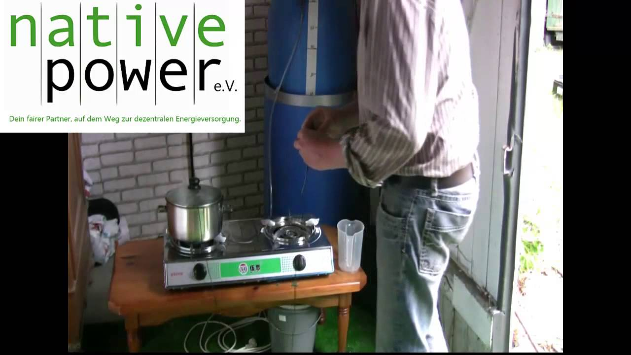 biogasanlage selber bauen teil 4 test eines biogaskochers youtube. Black Bedroom Furniture Sets. Home Design Ideas