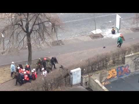 Ukraine - Government Snipers Shooting protesters in Kiev