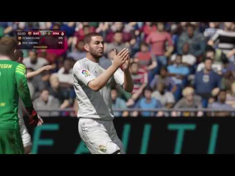 FIFA 16 PS4 Barcelona Real Madrid Full match