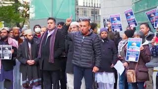 Muslims protest near US Embassy in Tokyo