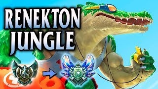Diamond Ranked Pool Party Renekton Jungle | Unranked to Diamond #5 - League of Legends S8