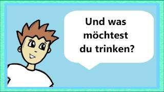 Deutsch lernen: Was möchtest du trinken? (drinks / boissons) (+ traduction / translation)