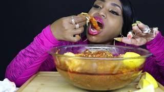 Deshelled Seafood Boil in Sauce ⚠ Turn Ur Volume Down