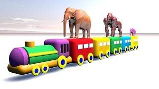 Learn Colors with  Balls for Children | toy train for Kids to Learn