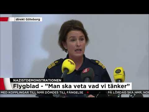 """Polisen om nazistdemon: """"Kommer att bära kroppskameror"""" - Nyheterna (TV4)"""