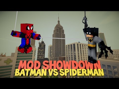 Minecraft: BATMAN VS SPIDERMAN - Mod Showdown (w/ BucketPlanks)