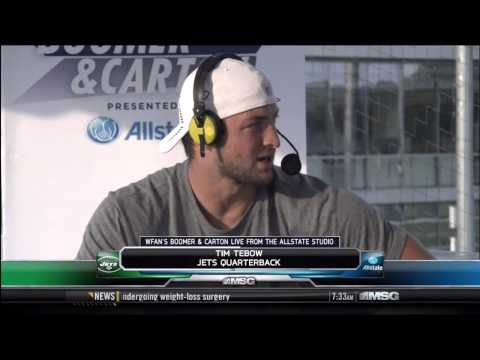 Boomer and Carton interviews Tim Tebow