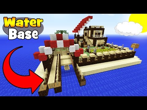 "Minecraft Tutorial: How To Make A Survival Base On the Water ""Easy Survival Base"""