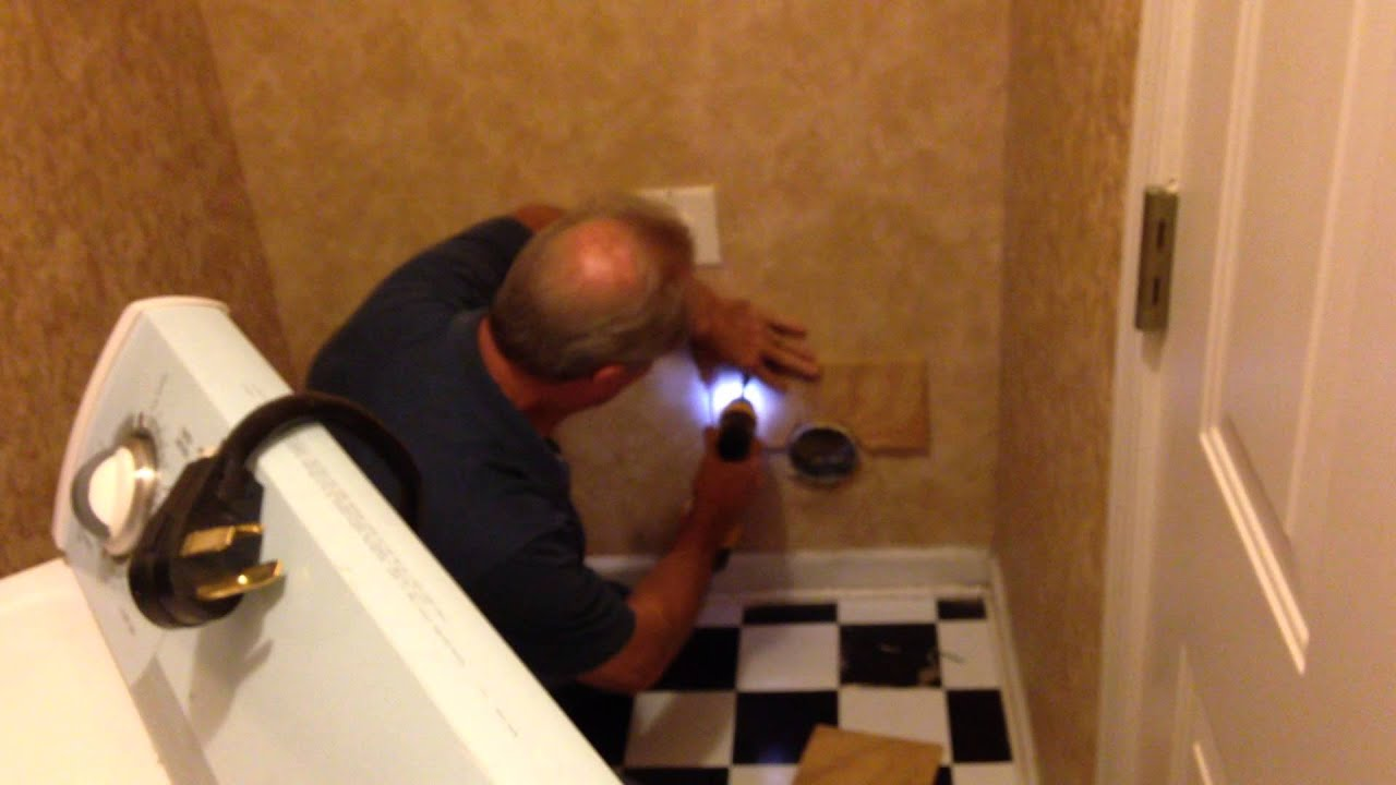 Recessed dryer vent box for existing homes