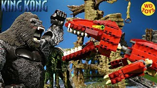 New King Kong Vs T-Rex Red Rex LEGO CREATOR Prehistoric Creatures Stop Motion Speed Build 4507