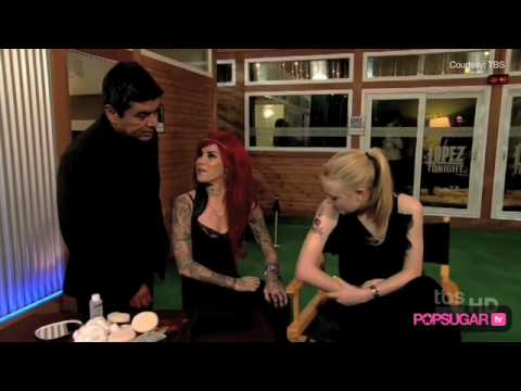 Dakota Fanning tests out a tattoo from Kat Von D, and Zachary Levi wears