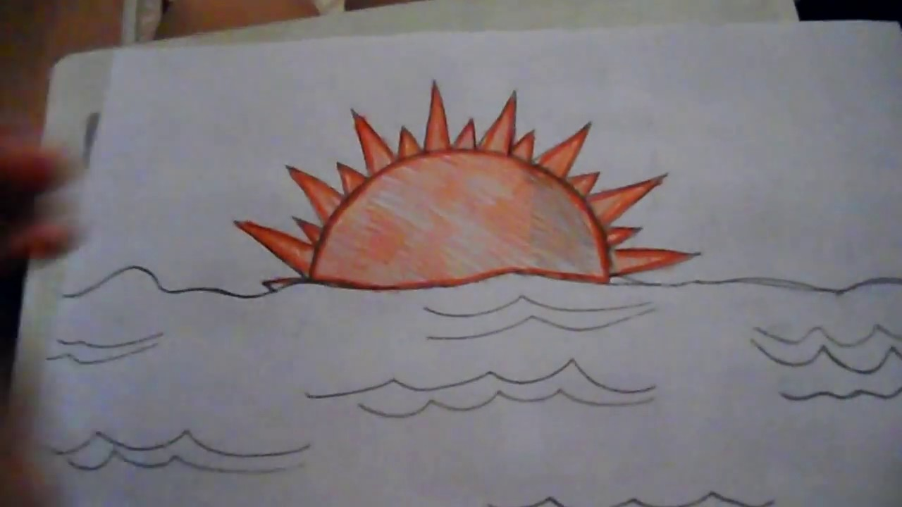 Medium Level Drawings a Sun Set Medium Level