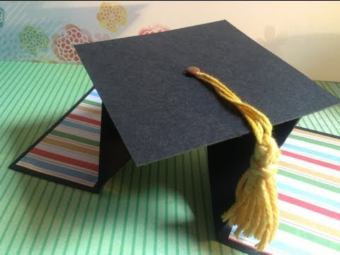 TUTORIAL Tarjeta Graduación Diamante/DIY Diamond Fold Card Graduation