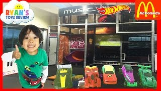 McDonald Indoor Playground for kids with Hoy Wheels Happy Meal Toys