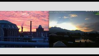 """""""Sky Beam"""" Appears At Sunrise In Both Hemispheres Of Earth - Half A World Away! (Video)"""