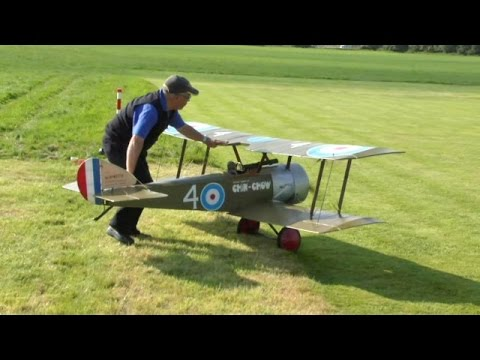 GIANT SCALE RC DAWN PATROL UK WW1 SCOUT / FIGHTERS AT LMA MUCH MARCLE  - 2014