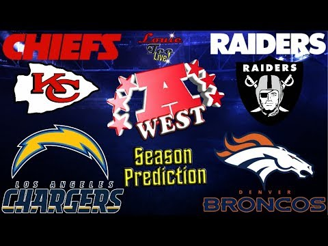 2017 NFL Season: AFC West Season Preview & Predictions #LouieTeeLive